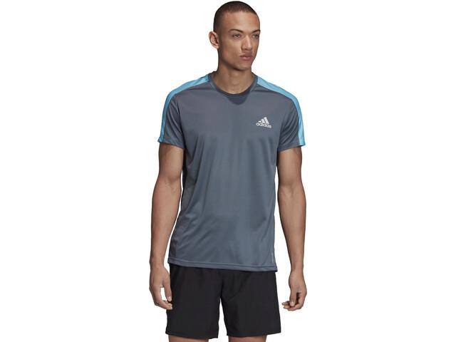 adidas OWN The Run T-Shirt Heren, legacy blue/reflective silver